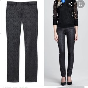 Tory Burch Honour Flat Front Skinny Jeans